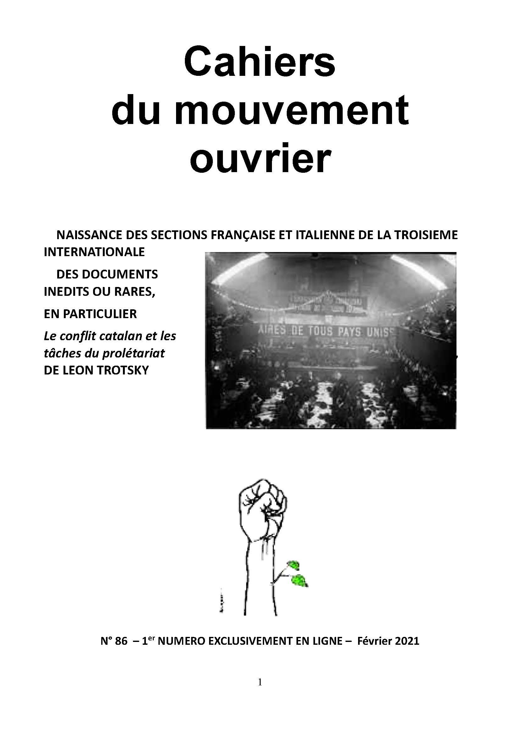 Cahiers du mouvement ouvrier 86