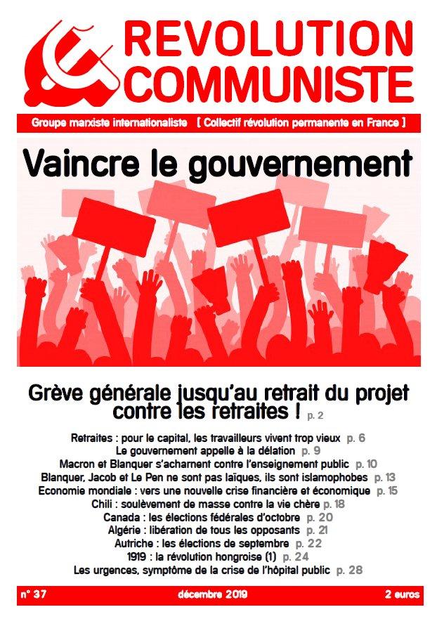 couverture Révolution communiste 36