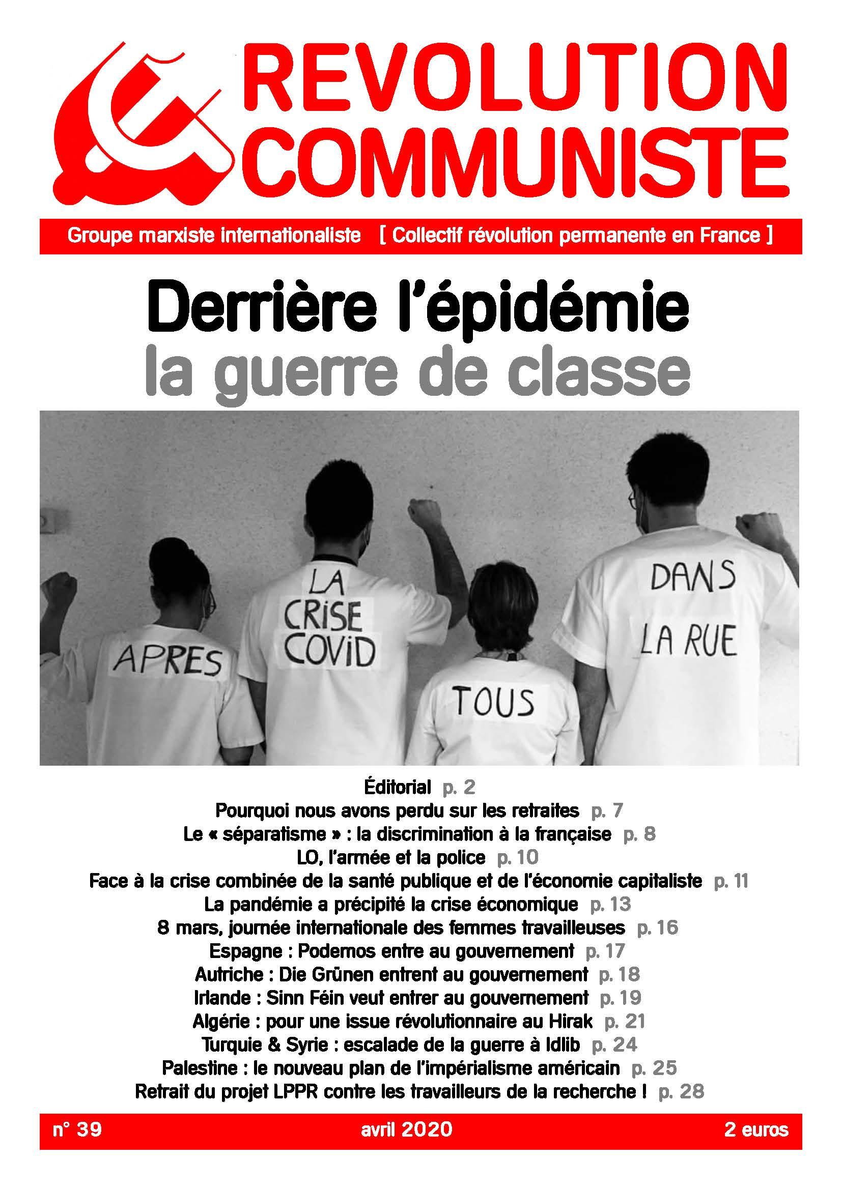 couverture Révolution communiste 39