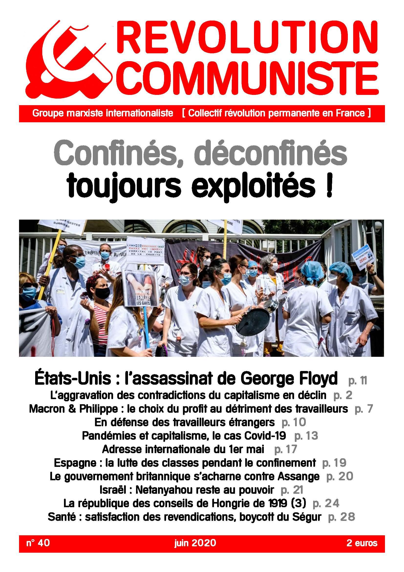 couverture Révolution communiste 40
