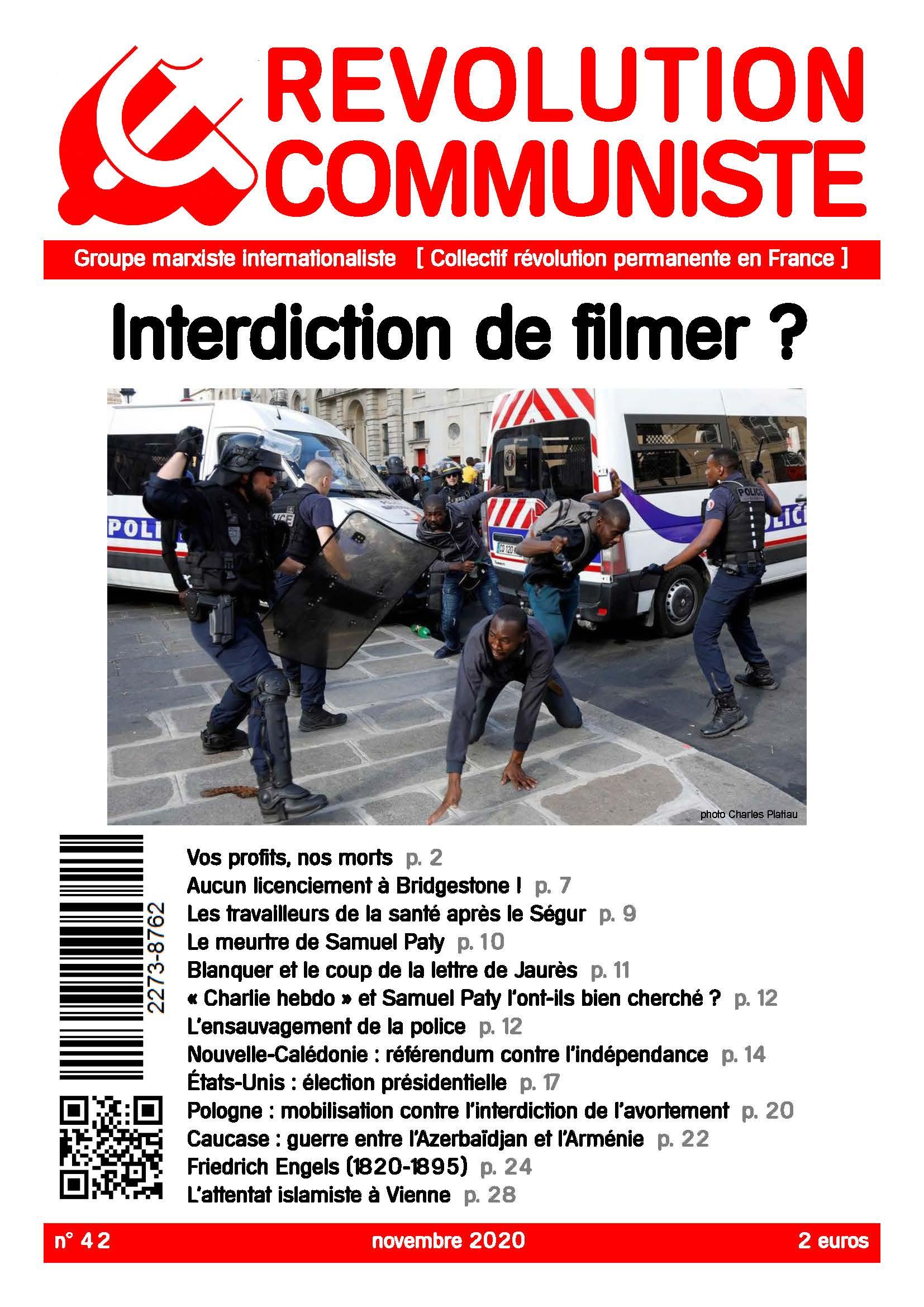 couverture Révolution communiste 42