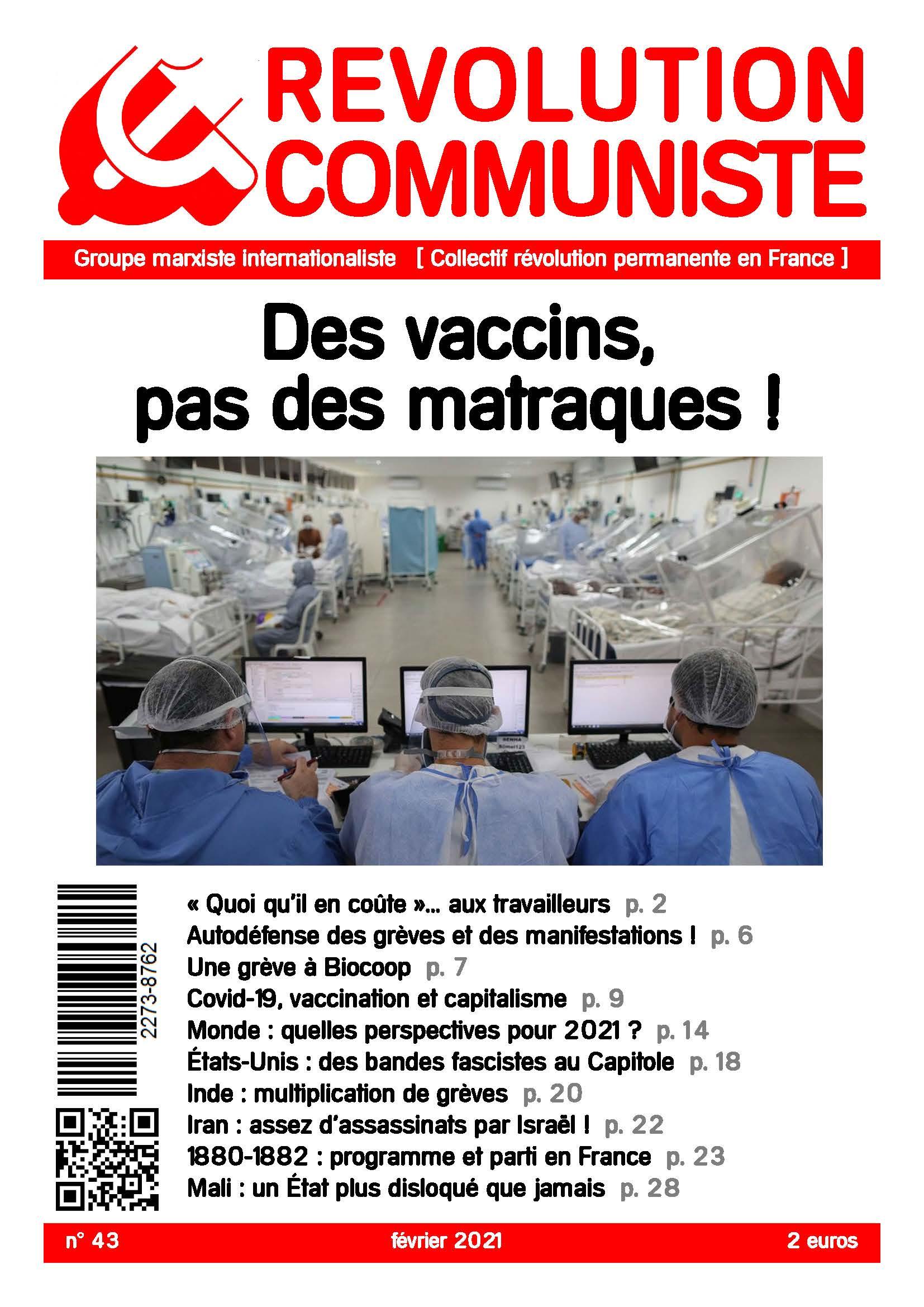 couverture Révolution communiste 43