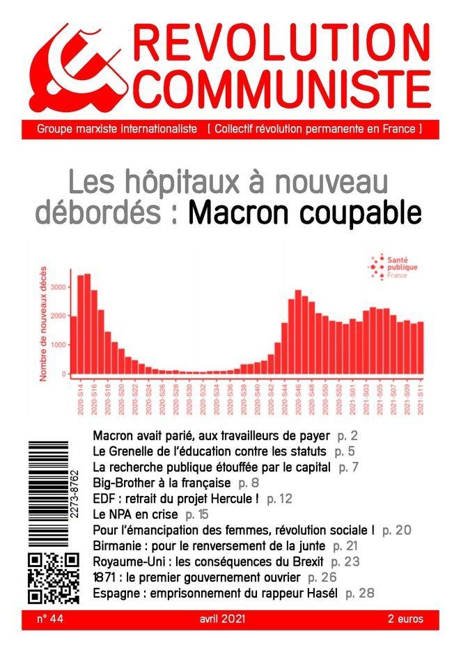 couverture Révolution communiste 44