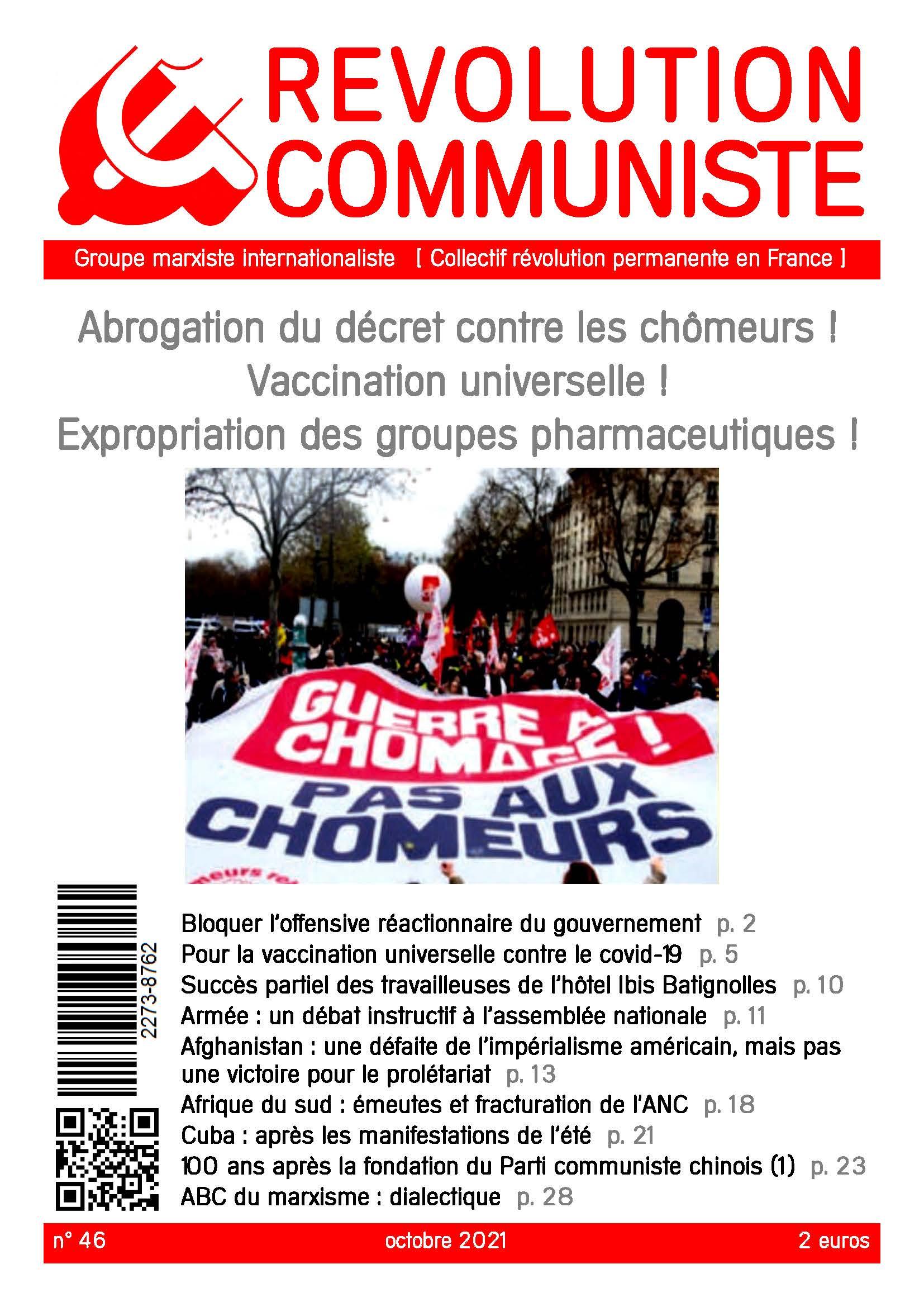 couverture Révolution communiste 46