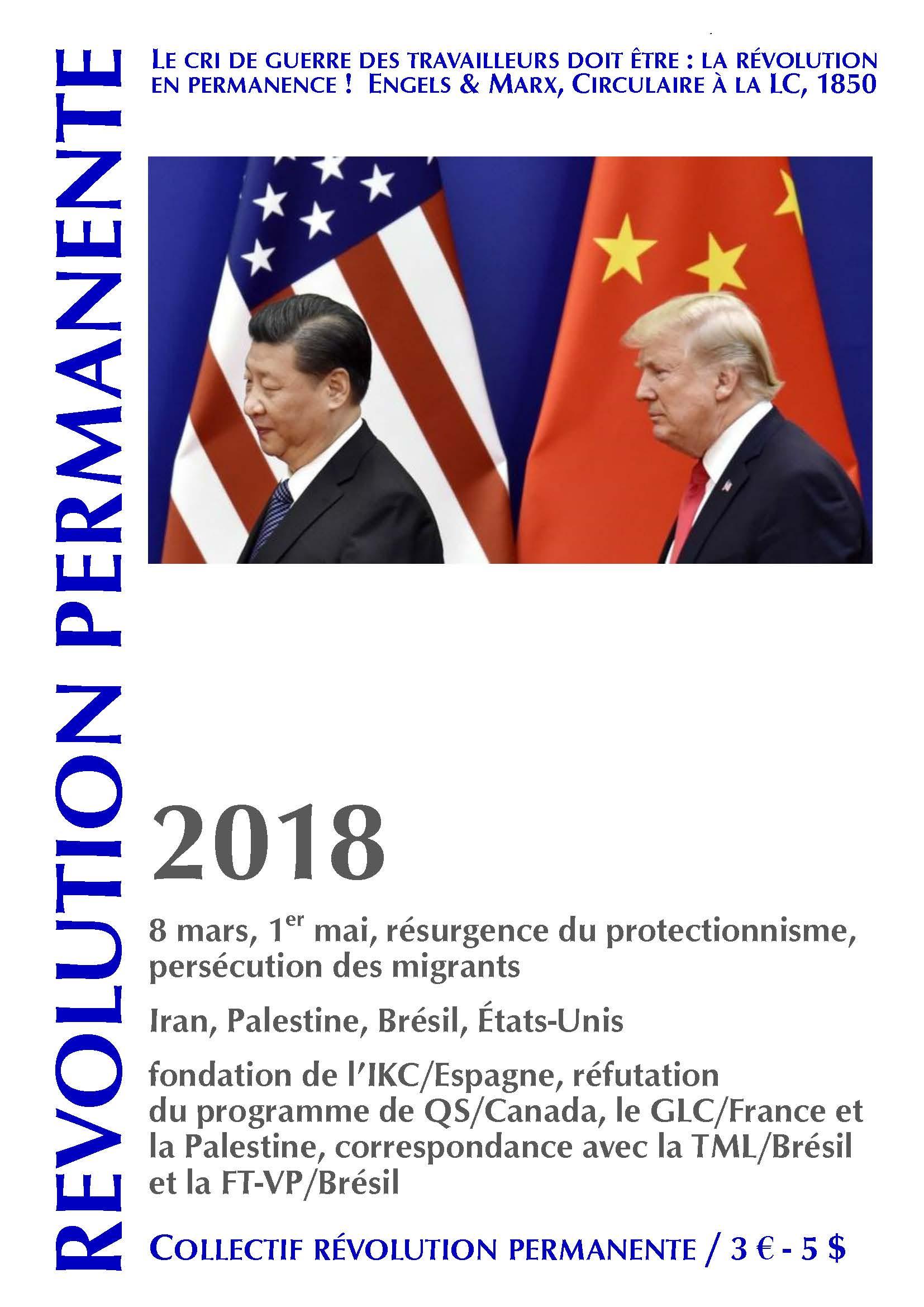 couverture Révolution permanente 2018