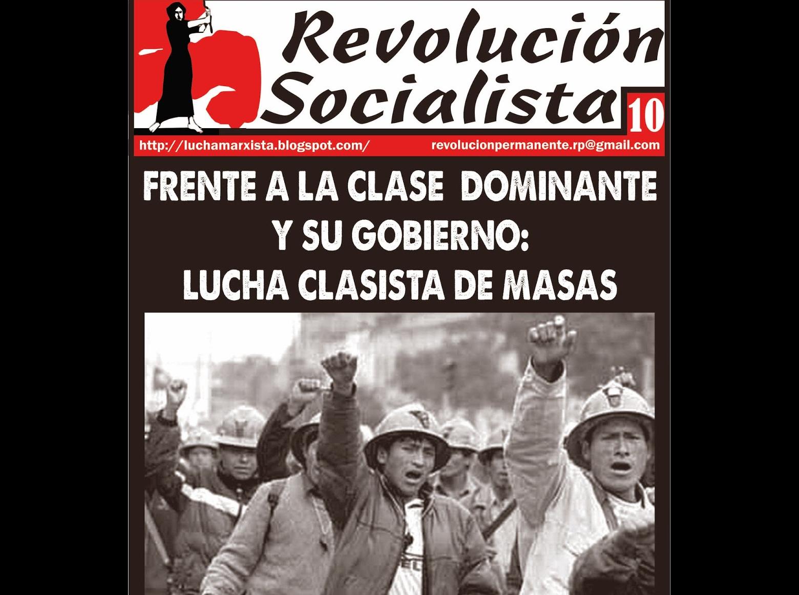 Contre la classe capitaliste et ses acolytes : vote de classe, vote nul (Pérou)