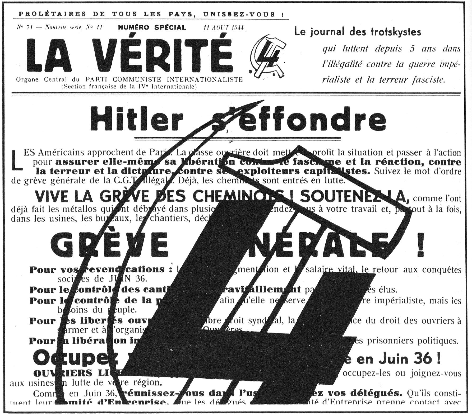 Déclaration des communistes internationalistes de Buchenwald, 20 avril 1945