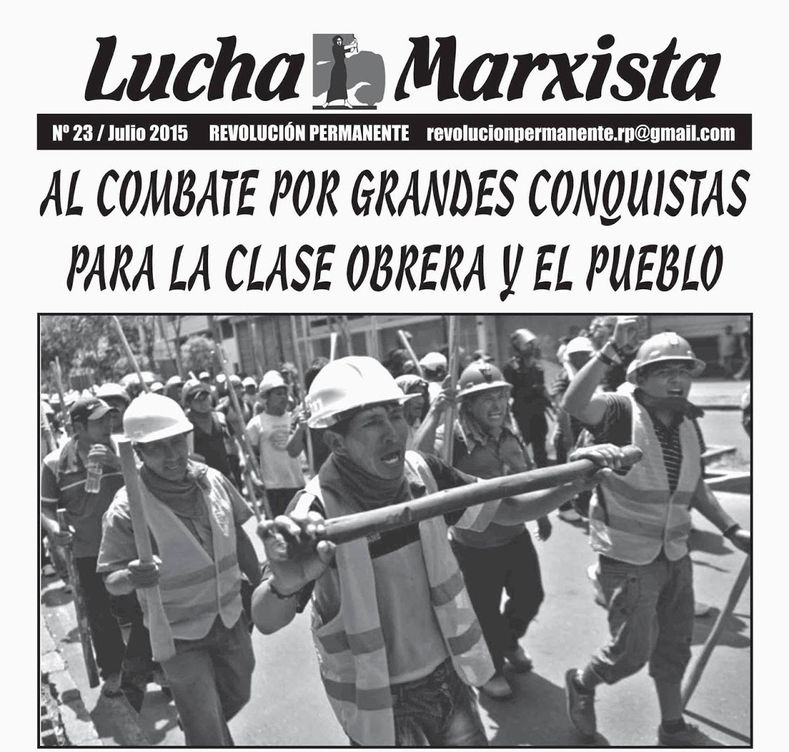 Pérou : Contre l'impérialisme et son gouvernement fantoche