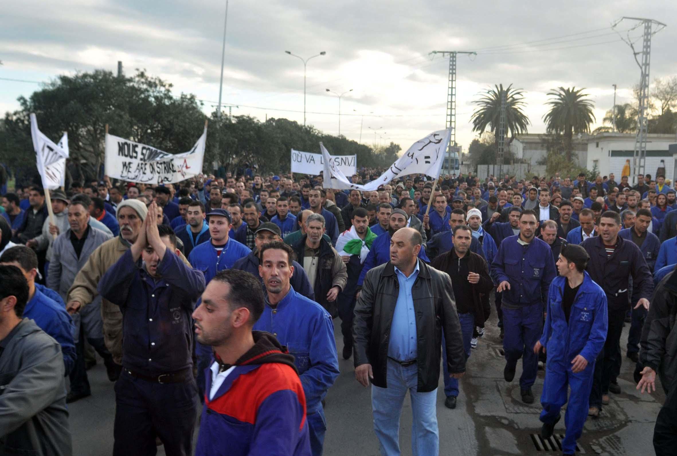 À bas la répression à la SNVI (Algérie)