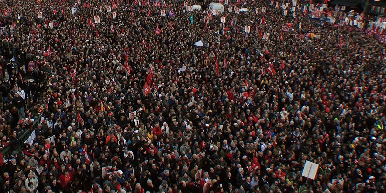 Dirigeants syndicaux, prononcez-vous pour la grève générale jusqu'au retrait du projet!