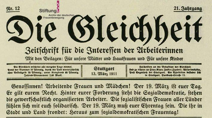 Résolutions de la Conférence Internationale des Femmes Socialistes, août 1910