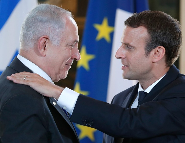 Macron, complice de Netanyahou